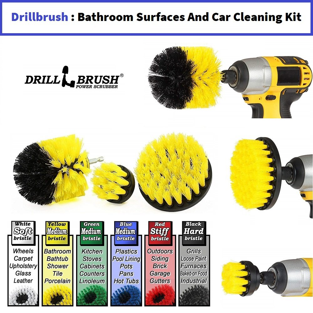 Drillbrush Bathroom Surfaces Cleaning Kit
