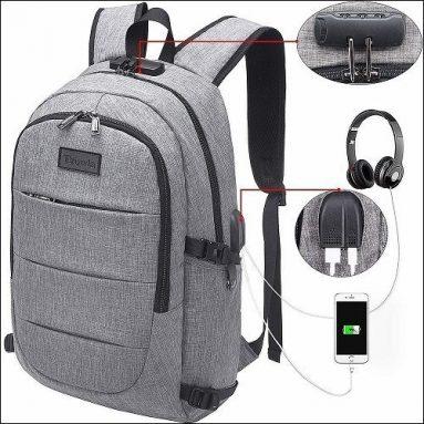 Anti Theft Waterproof Laptop Backpack